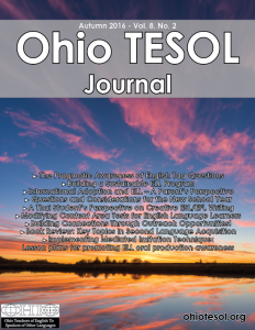 Latest Issue of the Ohio TESOL Journal Available