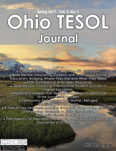 New Issue of Ohio TESOL Journal